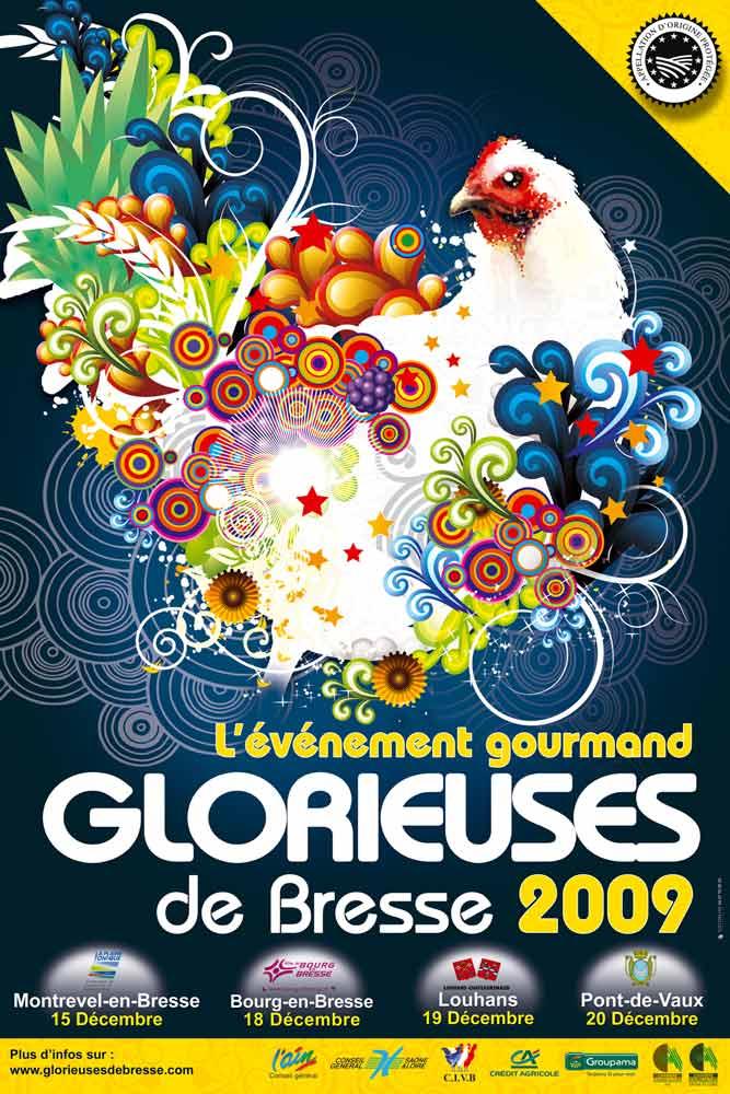 Affiche de l'édition 2009 des Glorieuses de Bresse