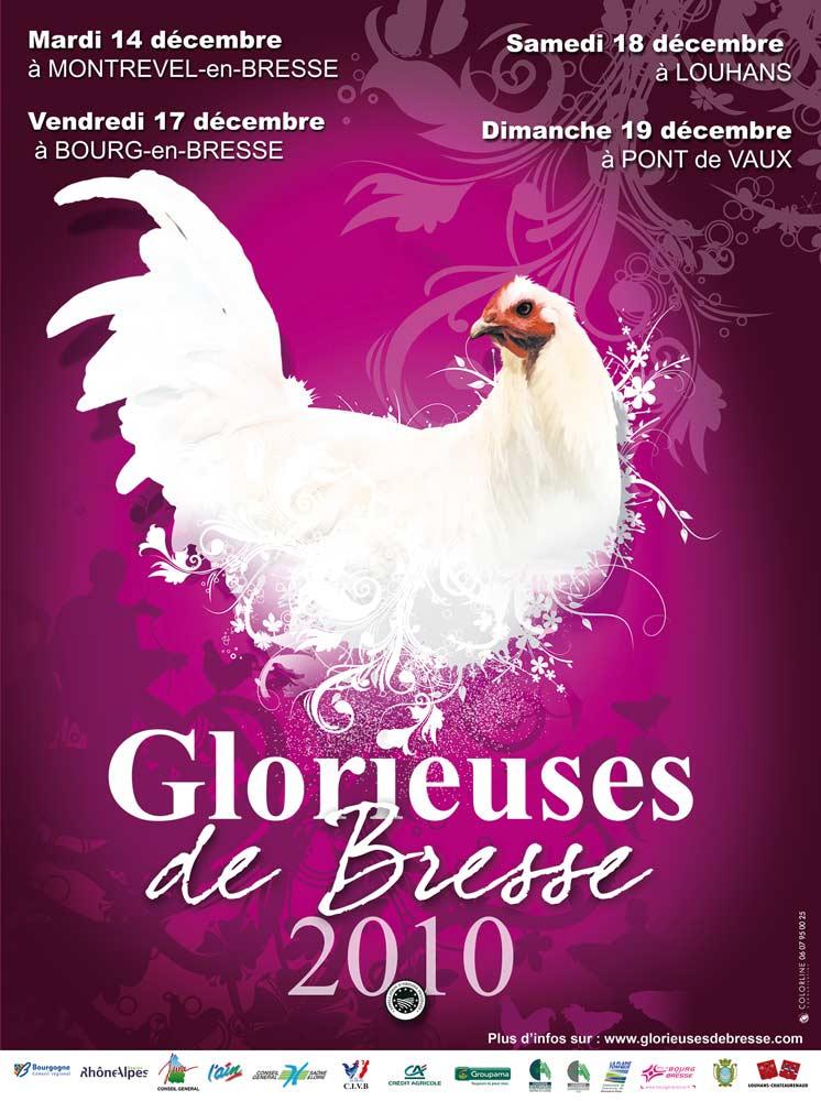 Affiche de l'édition 2010 des Glorieuses de Bresse