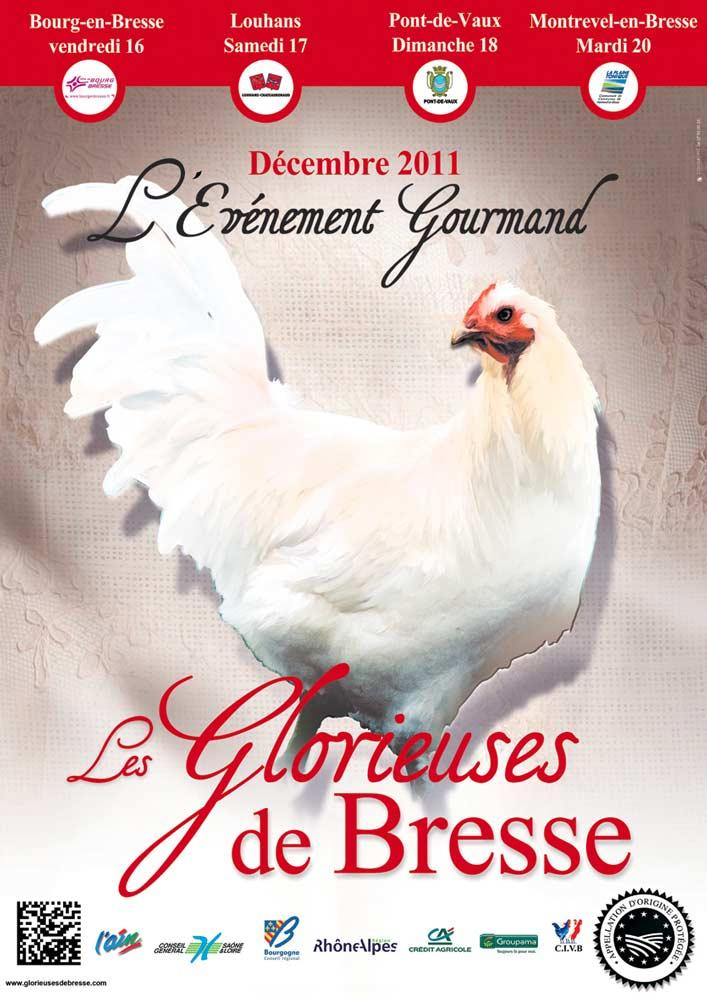 Affiche de l'édition 2011 des Glorieuses de Bresse