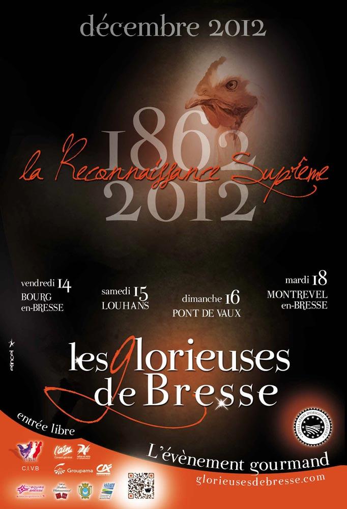 Affiche de l'édition 2012 des Glorieuses de Bresse