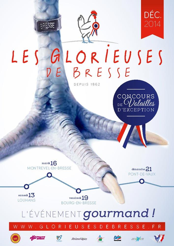 Affiche de l'édition 2014 des Glorieuses de Bresse