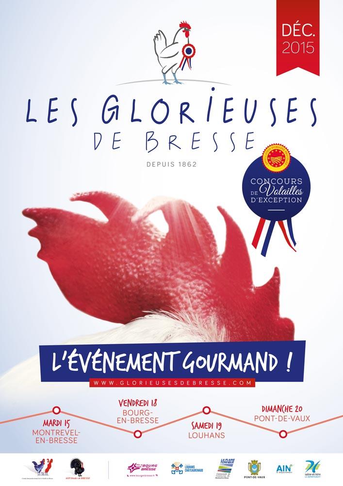 Affiche de l'édition 2015 des Glorieuses de Bresse