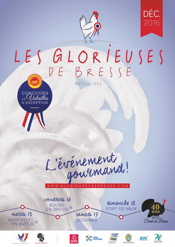 Affiche de l'édition 2016 des Glorieuses de Bresse