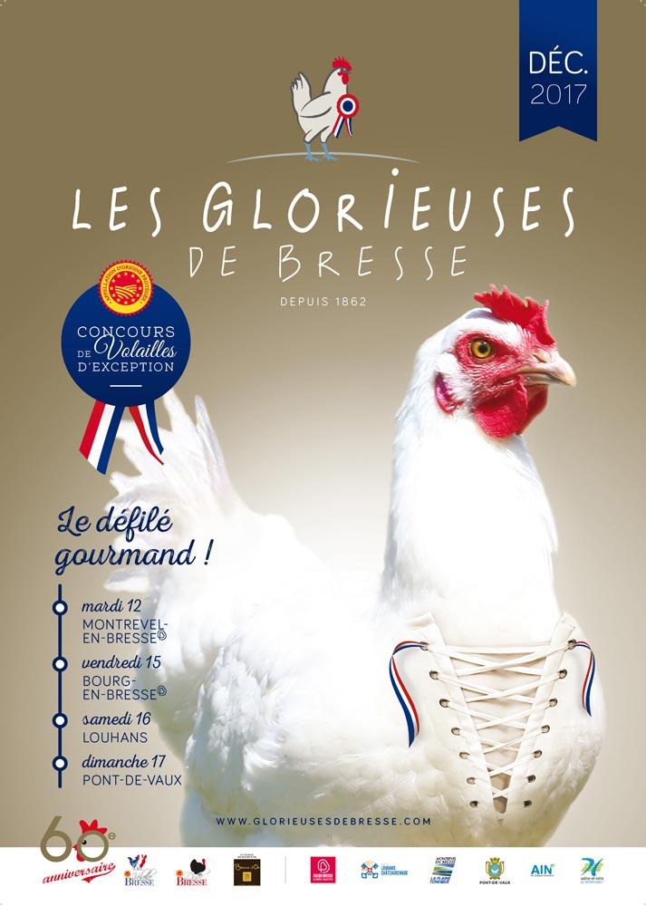 Affiche de l'édition 2017 des Glorieuses de Bresse