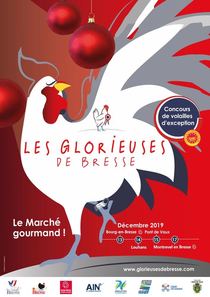 Affiche de l'édition 2019 des Glorieuses de Bresse