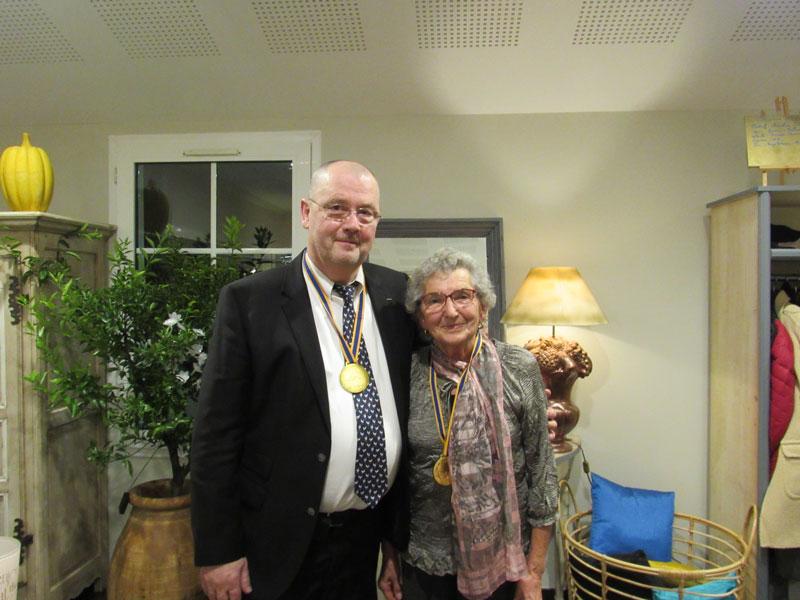 Louis MONNIER et Denise MORNET, membres du club des Bressans Gourmands