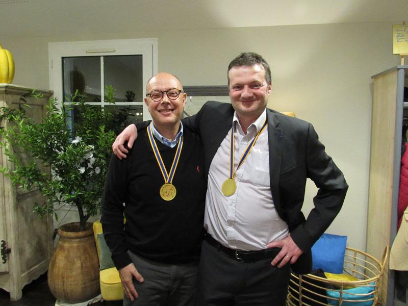 Marc CIVIER et Frédéric HELLO, membres du club des Bressans Gourmands