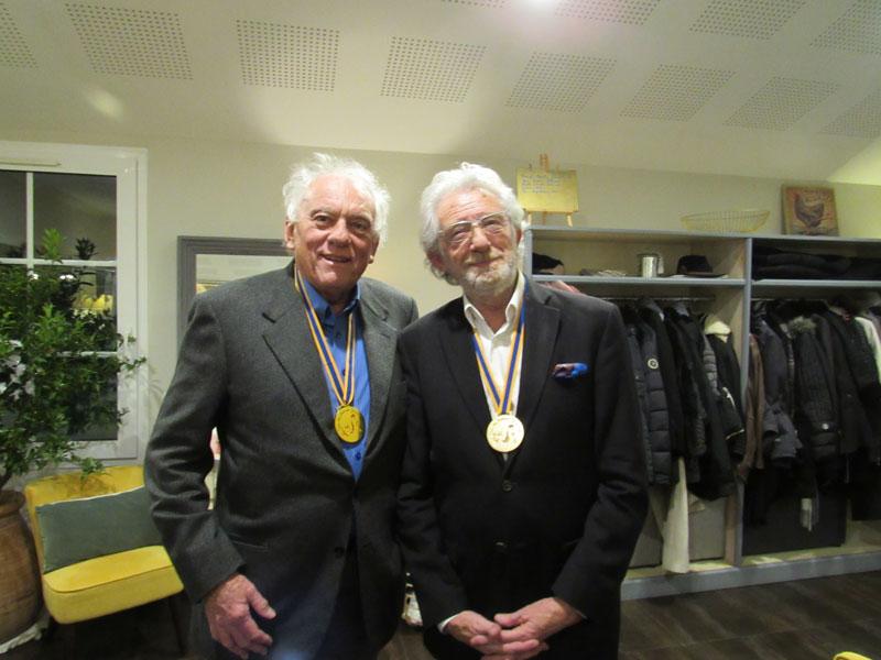 Michel ROSTANG et Jean-Claude MIERAL, membres du club des Bressans Gourmands